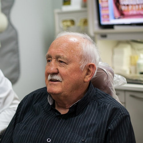 A patient of Dr. Harnish who has had their teeth whitened