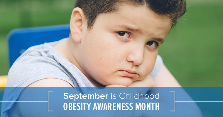 boy affected by childhood obesity