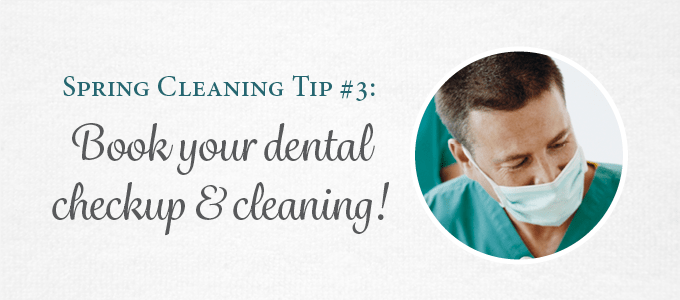 Keep your dental health in check by scheduling a checkup and cleaning