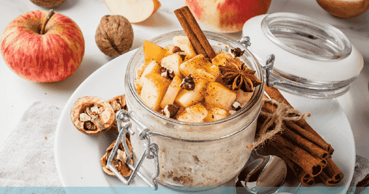 Delicious fall food favorite: Apple cinnamon overnight oats